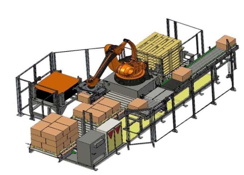 El paletizado y los paletizadores industriales automáticos